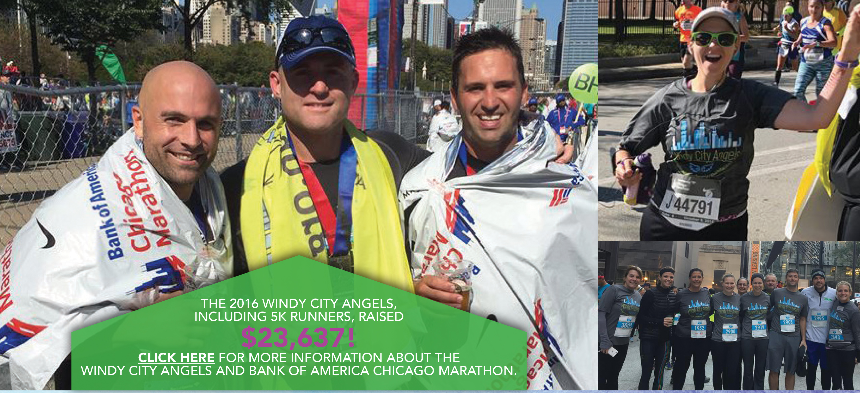 Windy City Angels run the Bank of America Chicago Marathon