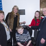 Plaque unveiling with Mr. Patterson