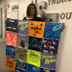 tshirt quilt prize to top fundraiser