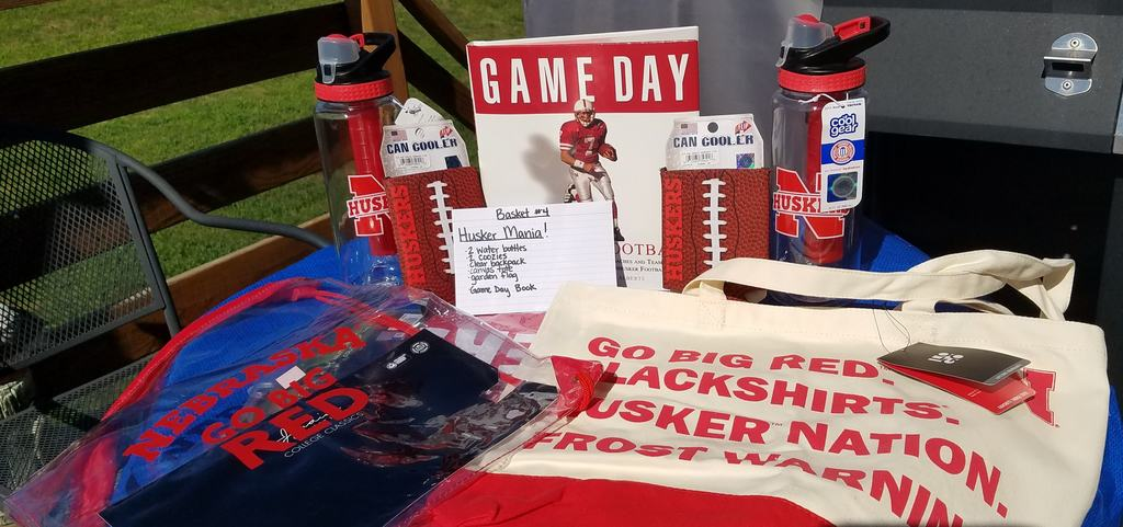 Husker themed items for auction
