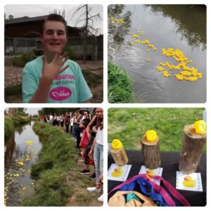 photos from the duck race event