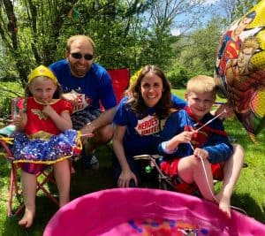Cobb Family in Heroes Unite t-shirts