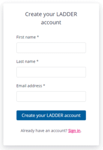 Enter First Name, Last Name and email address